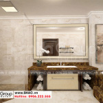 12 Mẫu nội thất phòng tắm wc biệt thự tân cổ điển có gara tại hải phòng sh btp 0139