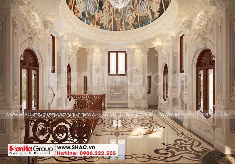 Thiết kế biệt thự lâu đài diện tích 18x9m 4 tầng 1 hầm 1 tum tại Hà Nội – SH BTLD 0039 23
