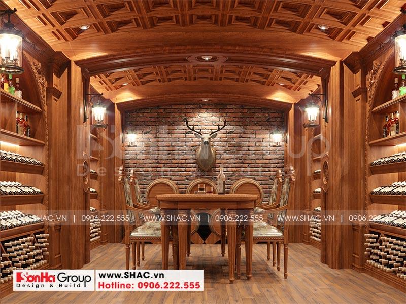 Thiết kế biệt thự lâu đài diện tích 18x9m 4 tầng 1 hầm 1 tum tại Hà Nội – SH BTLD 0039 26