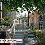 18 Không gian sân vườn biệt thự lâu đài xa hoa tại hà nội sh btld 0040