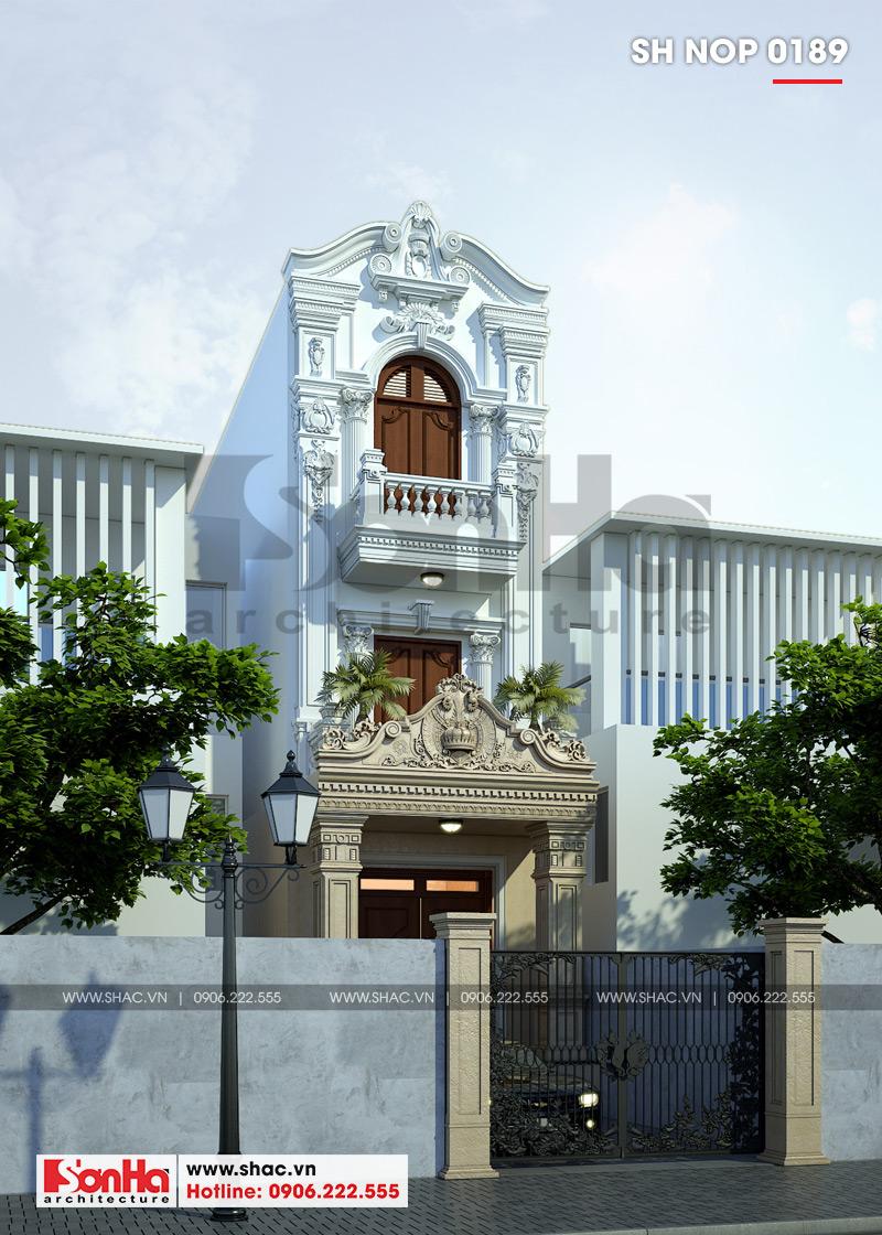 Kiến trúc mặt tiền nhà phố cổ điển Pháp được tạo từ đường nét tinh tế