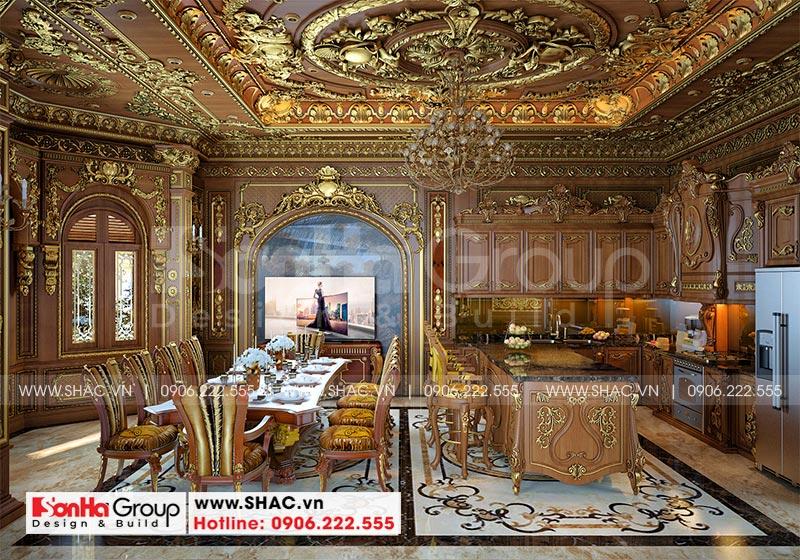 Thiết kế biệt thự lâu đài diện tích 18x9m 4 tầng 1 hầm 1 tum tại Hà Nội – SH BTLD 0039 12