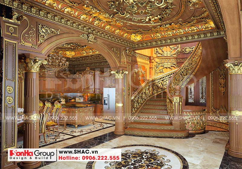 Thiết kế biệt thự lâu đài diện tích 18x9m 4 tầng 1 hầm 1 tum tại Hà Nội – SH BTLD 0039 13