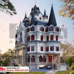 3 Thiết kế biệt thự lâu đài cổ điển 2 mặt tiền đẹp tại hà nội sh btld 0039