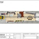 4 Mặt bằng công năng tầng 1 nhà ống 5 phòng ngủ tại hải phòng sh nop 0190