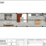 4 Mặt bằng công năng tầng 1 nhà ống pháp đẹp tại hải phòng sh nop 0189