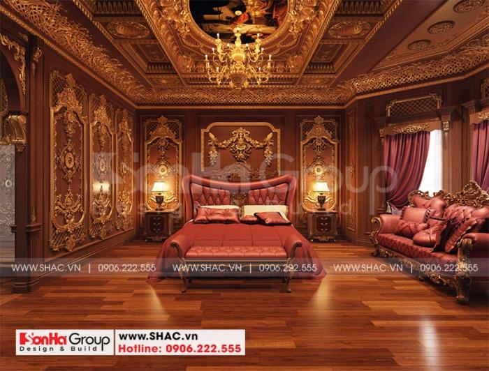 Thiết kế phòng ngủ với nội thất cổ điển châu Âu sang trọng mang đến không gian riêng tư lý tưởng nhất cho gia chủ