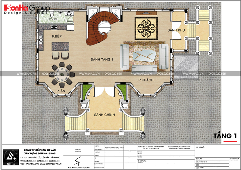 Thiết kế biệt thự lâu đài diện tích 18x9m 4 tầng 1 hầm 1 tum tại Hà Nội – SH BTLD 0039 5
