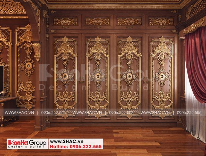 Thiết kế biệt thự lâu đài diện tích 18x9m 4 tầng 1 hầm 1 tum tại Hà Nội – SH BTLD 0039 15