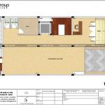 6 Bản vẽ tầng trệt văn phòng cho thuê mặt tiền 10m tại sài gòn sh vp 0036