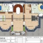 7 Bản vẽ tầng 3 biệt thự lâu đài 2 mặt tiền tại hà nội sh btld 0039