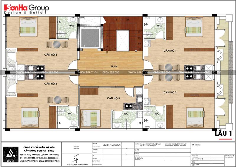 Thiết kế văn phòng kết hợp cho thuê diện tích 10x18m tại Sài Gòn – SH VP 0036 6