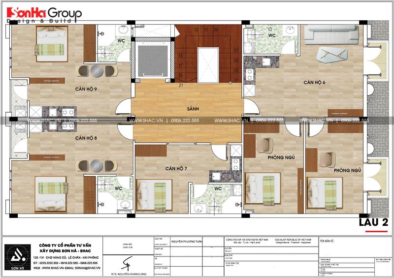 Thiết kế văn phòng kết hợp cho thuê diện tích 10x18m tại Sài Gòn – SH VP 0036 7