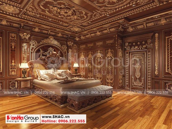 Ý tưởng thiết kế phòng ngủ cổ điển với nội thất gỗ cao cấp được chủ đầu tư vô cùng yêu thích