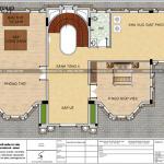 8 Mặt bằng công năng tầng 4 biệt thự lâu đài 4 tầng 1 tum tại hà nội sh btld 0039