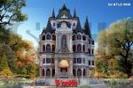 BÌA mẫu biệt thự lâu đài cổ điển 4 tầng 1 tum đẹp tại hà nội sh btld 0039