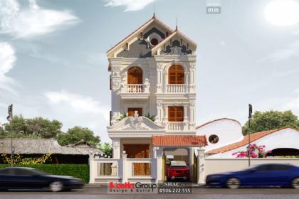 Biệt thự tân cổ điển 170m2 mặt tiền 9m 3 tầng