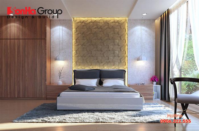Mẫu thiết kế phòng ngủ đẹp 30m2 phong cách ngọt ngào lãng mạn