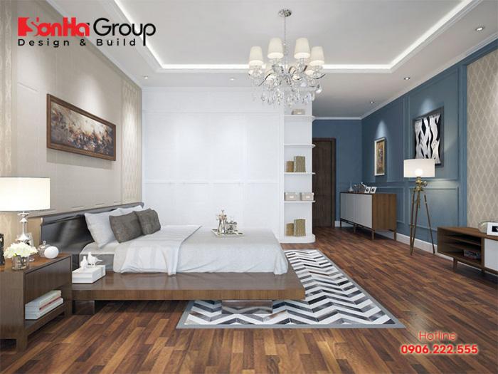Thiết kế phòng ngủ 30m2 phong cách nội thất hiện đại trẻ trung