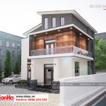 1 Thiết kế biệt thự mái thái 2 tầng hiện đại tại hải dương sh btd 0072