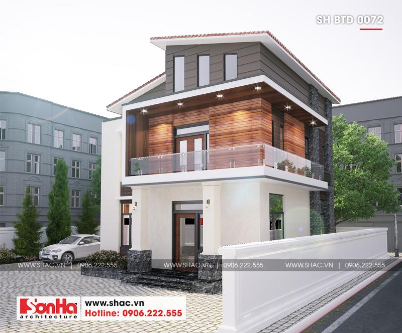 Biệt thự hiện đại mái thái 2 tầng diện tích 9x10m tại Hải Dương – SH BTD 0072 2