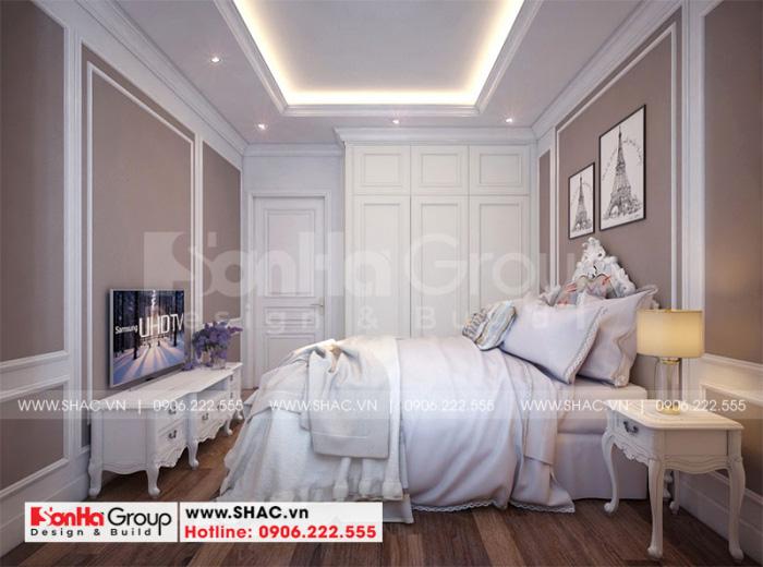 Cách trang trí nội thất phòng ngủ giúp việc cho biệt thự tân cổ điển Vinhomes