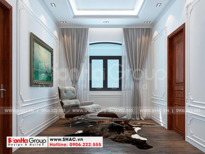 Cách bố trí nội thất sảnh thang đẹp cho biệt thự Vinhomes Imperia tại Hải Phòng