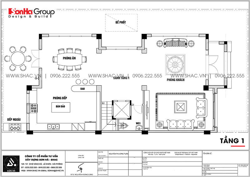 Thiết kế nội thất biệt thự Vinhomes Imperia diện tích 7,8x14,5m phân khu Paris 17