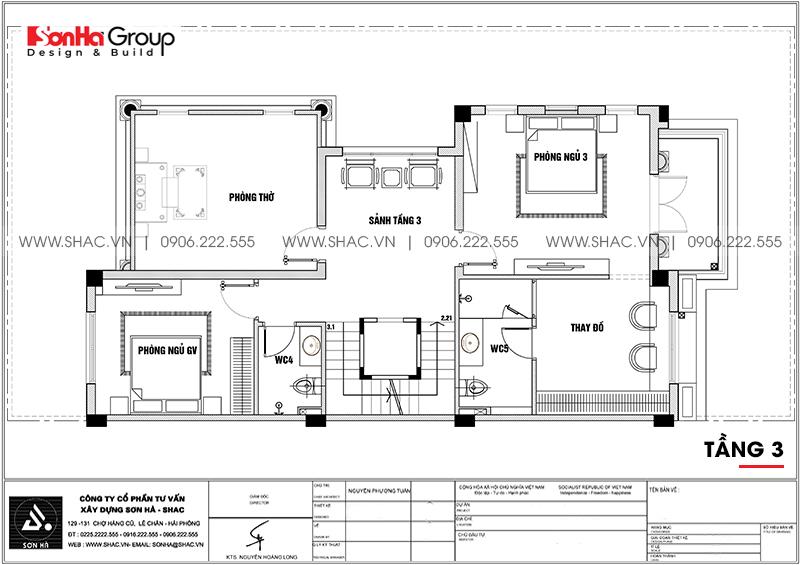 Thiết kế nội thất biệt thự Vinhomes Imperia diện tích 7,8x14,5m phân khu Paris 19