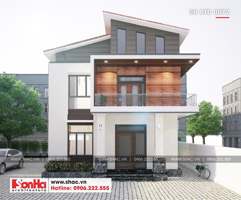 Biệt thự hiện đại mái thái 2 tầng diện tích 9x10m tại Hải Dương – SH BTD 0072 1