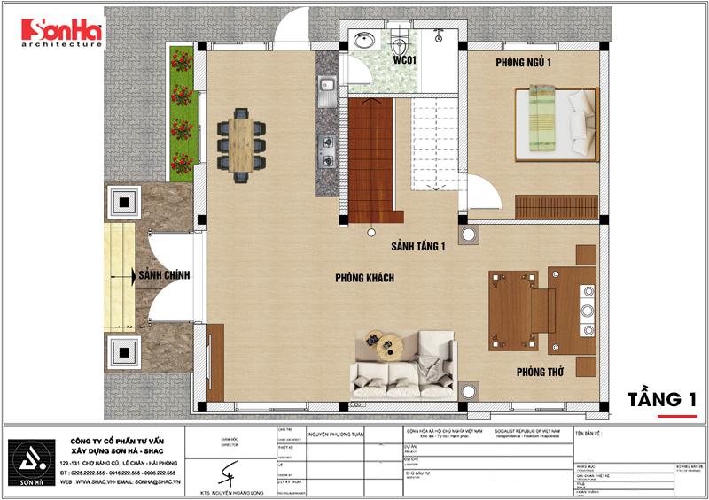 Biệt thự hiện đại mái thái 2 tầng diện tích 9x10m tại Hải Dương – SH BTD 0072 3