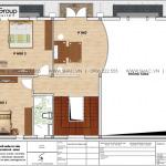 4 Bản vẽ tầng 2 biệt thự phong cách hiện đại đẹp sh btd 0073