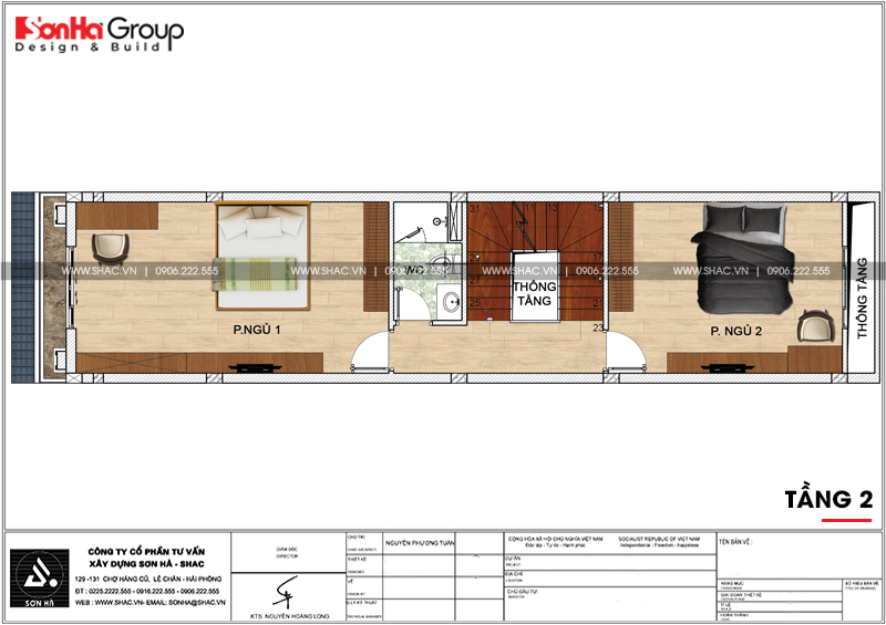 Mẫu nhà ống tân cổ điển 3 tầng diện tích 4,2x17,3m tại Hải Phòng – SH NOP 0191 3