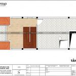 6 Bản vẽ tầng áp mái nhà ống hiện đại diện tích 5x15m tại hải phòng sh nod 0200