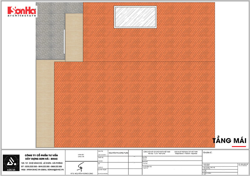 Biệt thự hiện đại mái thái 2 tầng diện tích 9x10m tại Hải Dương – SH BTD 0072 6
