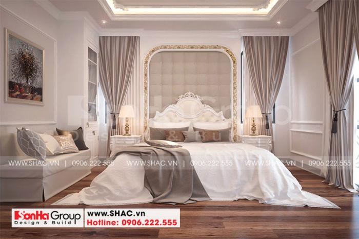 Thiết kế nội thất phòng ngủ đẹp cho biệt thự song lập Paris Vinhomes Imperia