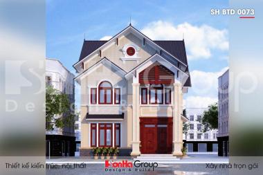 BIA Thiết kế biệt thự hiện đại mái thái 2 tầng sh btd 0073
