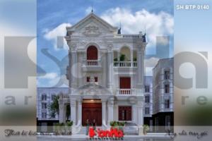 BÌA thiết kế biệt thự tân cổ điển 3 tầng 2 mặt tiền đẹp tại hải phòng sh btp 0140