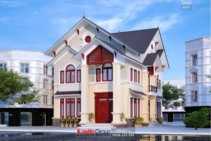 Biệt thự hiện đại mái thái 2 tầng diện tích 155m2