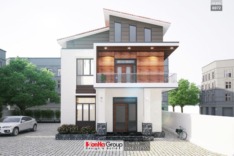 Biệt thự hai tầng diện tích 90m2 mặt tiền 9m