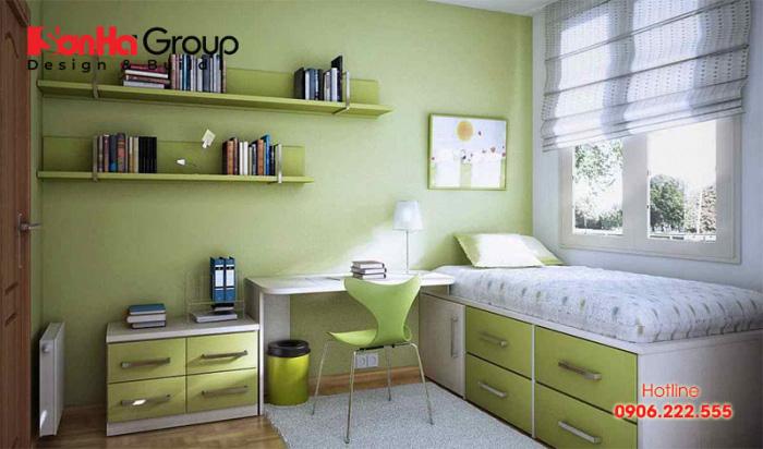 Đây cũng là giải pháp khả thi trong trang trí phòng ngủ diện tích 8m2
