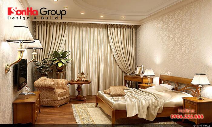 Phòng ngủ 25m2 đơn giản mà đẹp được thiết kế theo phong cách vintage