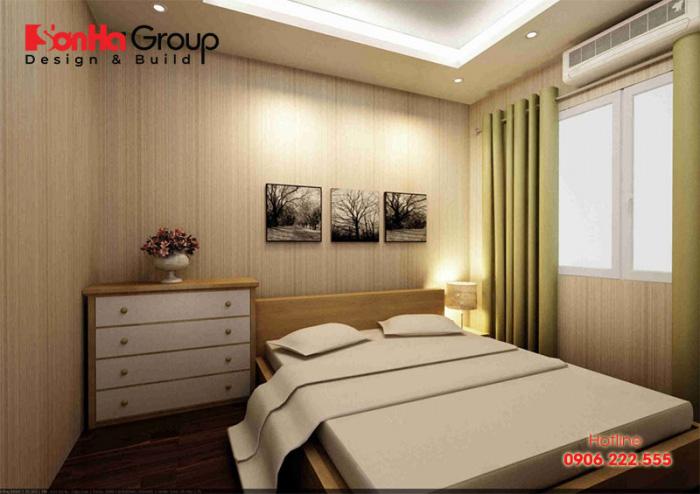 Thiết kế nội thất phòng ngủ 12m2 đơn giản nhưng đẹp mắt và tinh tế