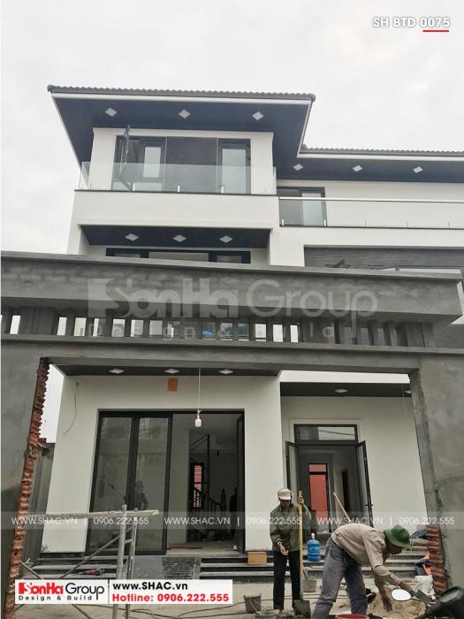1 Thi công biệt thự mái thái kiểu hiện đại tại hải phòng sh btd 0075