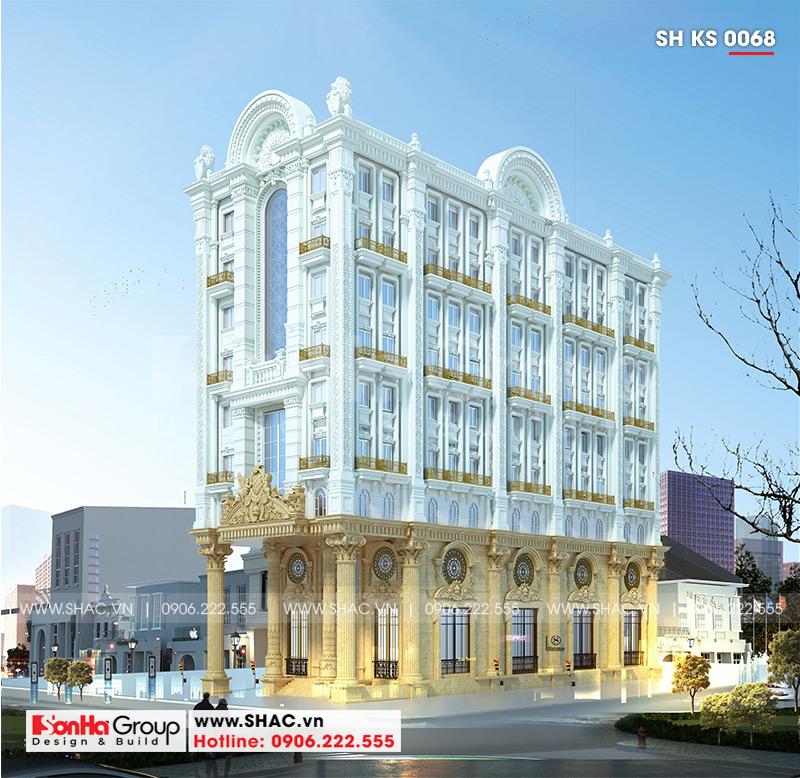 Thiết kế khách sạn 3 sao tân cổ điển 9 tầng tại Phú Quốc - SH KS 0068 1