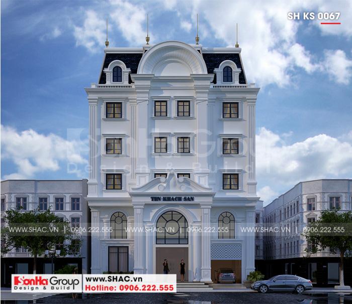 Mặt tiền khách sạn mini 2 sao với 6 tầng tiện nghi và đẹp mắt tại Hải Phòng