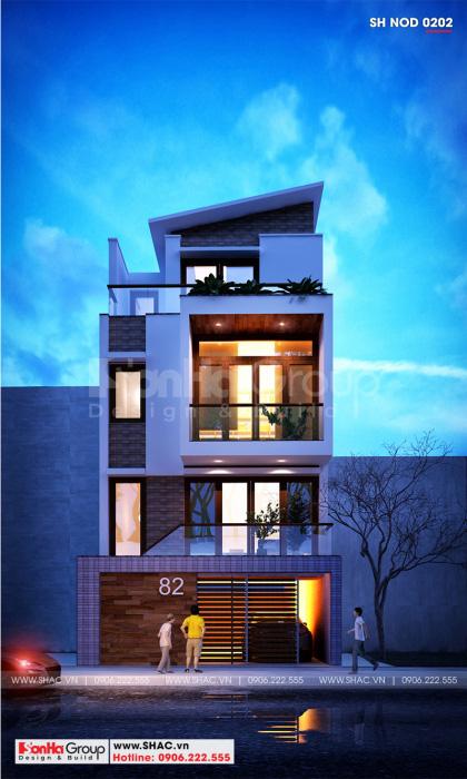 Mẫu thiết kế nhà ống 3 tầng của Sơn Hà Group