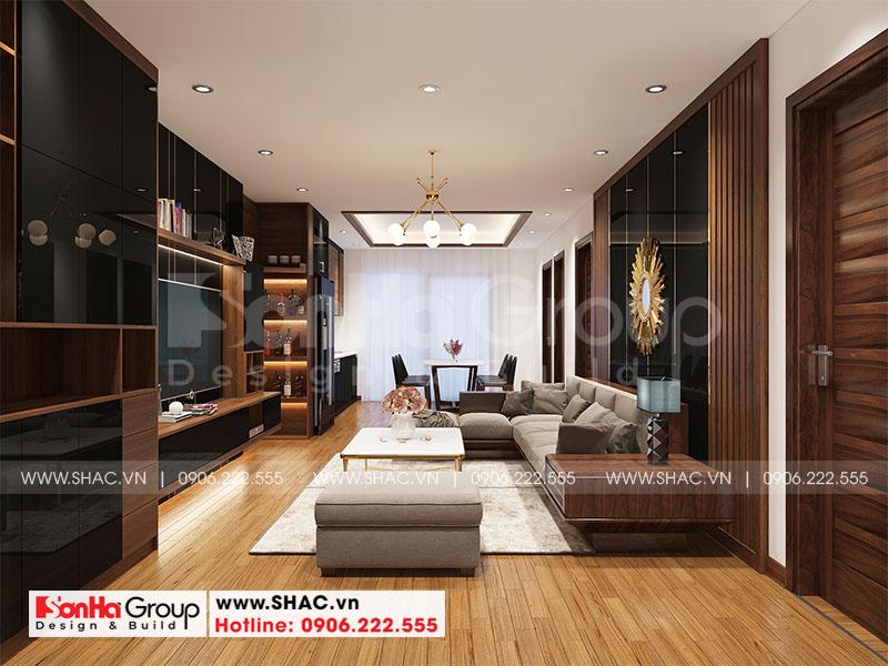 Thiết kế nội thất căn hộ chung cư 100m2 3 phòng ngủ hiện đại tại Hà Nội 1