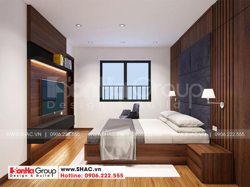 Thiết kế nội thất căn hộ chung cư 100m2 3 phòng ngủ hiện đại tại Hà Nội 10