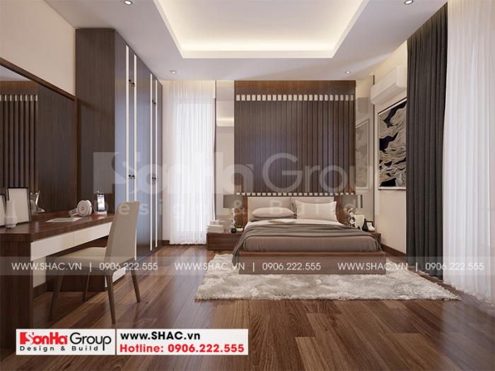 Không gian phòng ngủ đẹp giản dị mà ấn tượng với đồ nội thất gỗ và sàn gỗ